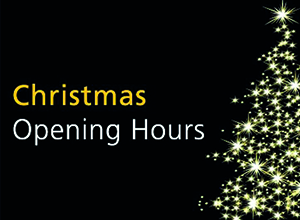 Christmas and New Year opening hours...